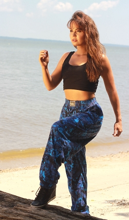 Celeste Kellogg In Classic Rip Tide Relaxed Fit Baggy Pants
