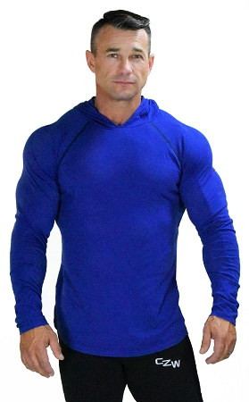 Fitted T-Shirt Pacific Hoodie ( Cobalt Blue)  For Men And Women