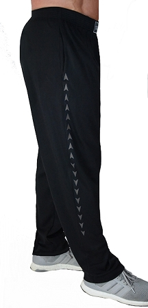 Style 500 Classic Soft Baggy Pants In Black With Charcoal Grey Arrow Pattern For Men And Women