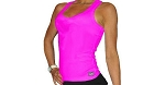 Style 340 Pink Stretch Rib Racer back Tank Top With Bikini Nation Tank Top