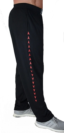 Style 500 Classic Soft Baggy Pants In Black With Red Arrow Pattern For Men And Women