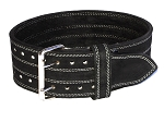 Heavy Duty 3 Ply Black Leather Crazee Workout Belts