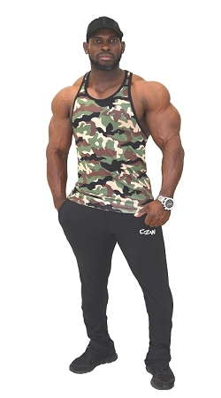 Crazee Wear 312R Camo Design Soft Cotton Stretch Fitted Tank Top