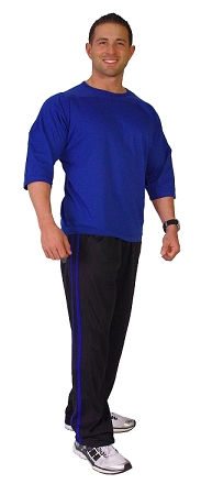 600MPS Micro Fiber Pants  (black with royal blue stripes)