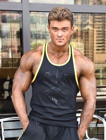 Crazee Wear 312RC Black Rib Stretch Fitted Tank Tops With Yellow Ribbing With CZW Athletics In Black
