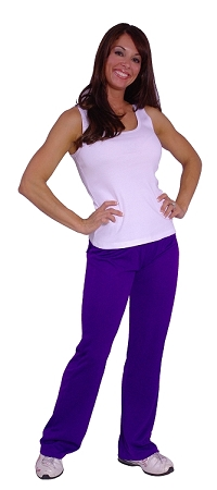 Style 200M Purple Figure Pants (Stretchy Cool Micro Fiber)