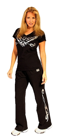 Crazeewear WSP800 Black w/spiral Womens Pants