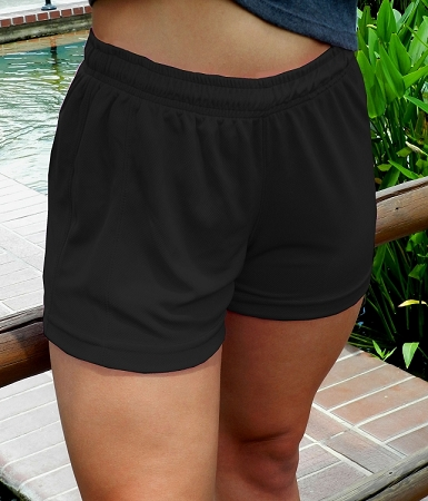 Style 900WS Micro blend black relaxed fit training shorts