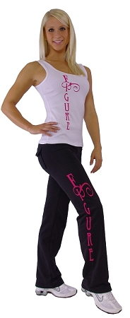 Style 200R Black Pants With Pink Figure on Figure  Pants