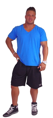 Style 600MS Micro blend black training shorts