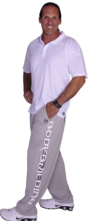 Summer Cool micro fiber pants (brand new to our edition) 600MP  Grey with charcoal tribal/white bodybuilder