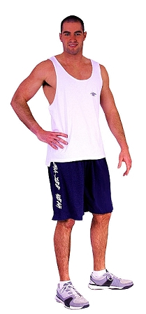 Style 600MS Micro blend navy blue training shorts W/ Crazee Wear