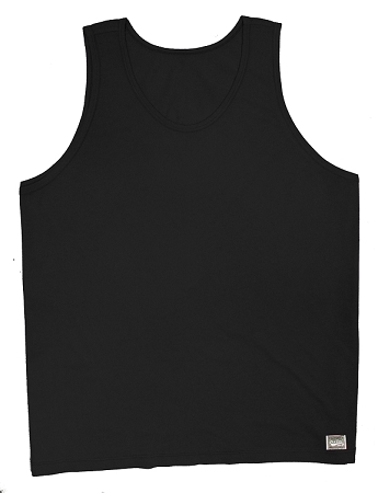 Style 350 New Solid Black CZW Venice Relaxed Fit Tank Top