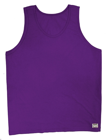 Style 350 New Solid Purple CZW Venice Relaxed Fit Tank Top