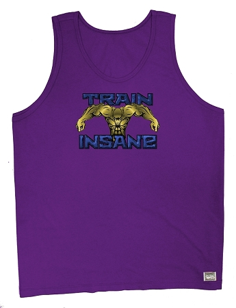 Style 350 New Purple CZW Venice Tank Top With Versa Train Insane (Blue,Gold)