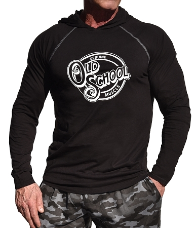 T-Shirt Pacific Hoodie In Black For Men And Women With Old School Muscle design