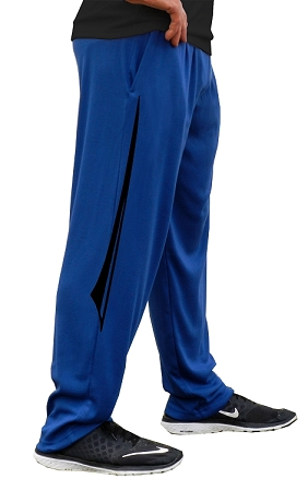 Style 500 Classic Solid Pacific Blue Relaxed Fit Soft Baggy Pants For Men And Women With Black Blade Design