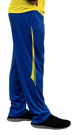 Style 500 Classic Solid Pacific Blue Relaxed Fit Soft Baggy Pants For Men And Women With Yellow Blade Design