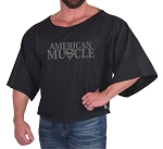 Vintage Rag Top In Black With American Muscle Design