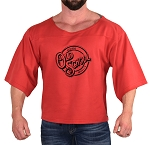 Vintage Rag Top In Red With Old School Muscle Design