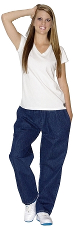 Style 50D Relaxed Fit Denim Pants(Dark Blue)