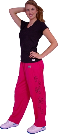 micro fiber pants 600MP (pink) heart graphic desigh