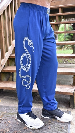 Style 500 Classic Pacific Blue With Serpentine Design  Relaxed Fit Soft Baggy Pants For Men And Women