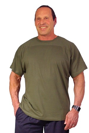 Style 444S Army Green Relaxed Fit Short Sleeve Wide Shoulder Custom Shirt