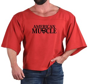 Vintage Rag Top In Red With American Muscle Design