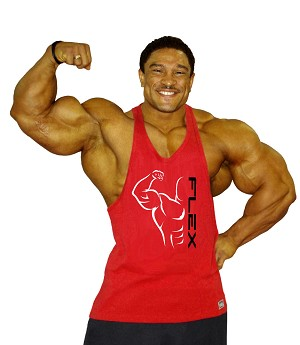 Stringer Tank Top In Red With Flex Design